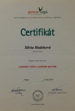 Certifikat Ajurveda