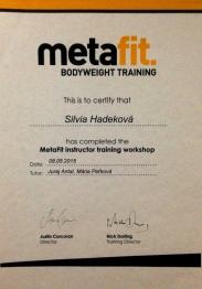 Certifikat Metafit